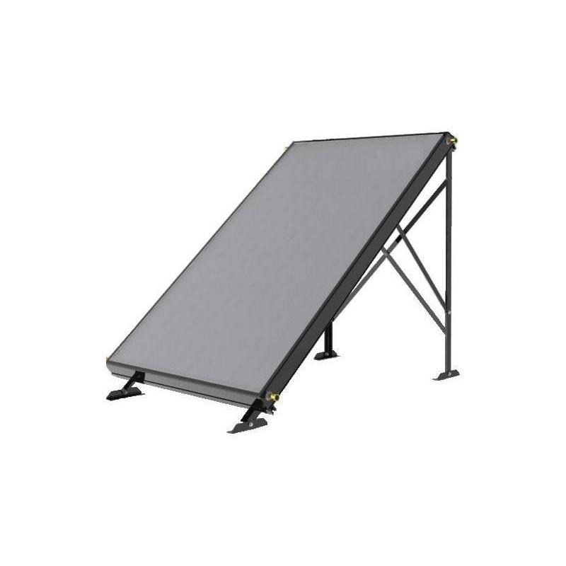 structure sol panneaux solaires thermiques. Black Bedroom Furniture Sets. Home Design Ideas