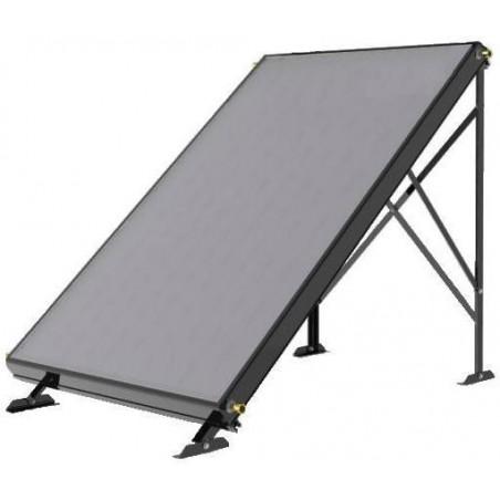 Structure sol panneaux solaires thermiques for Panneau solaire chauffe eau piscine