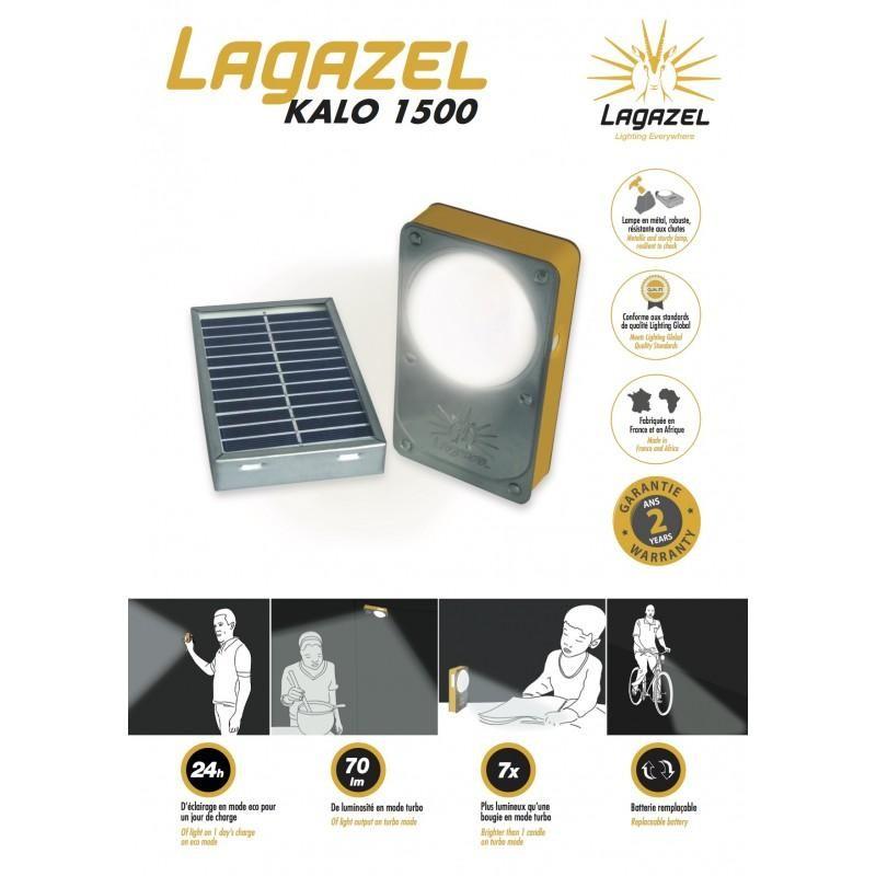 Lampe solaire Lagazel Kalo 1500