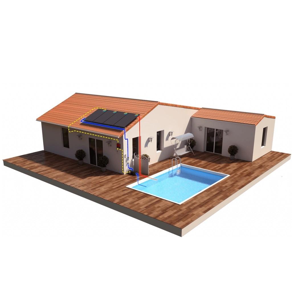 Kit piscine 10 panneaux...