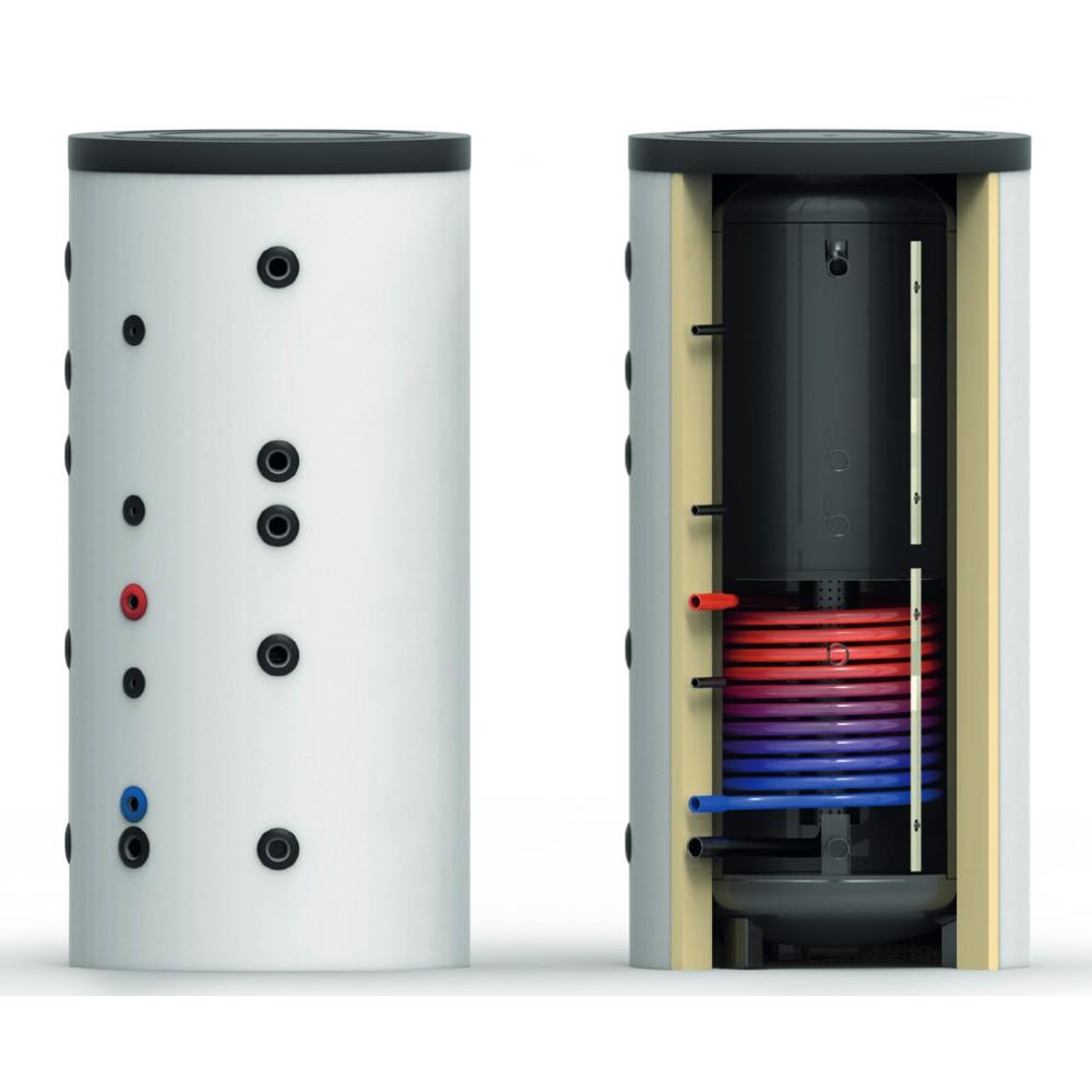 Ballon tampon stratifié BTSPS 300L sans échangeur solaire - stratification pour chauffage plancher chauffant et radiateurs