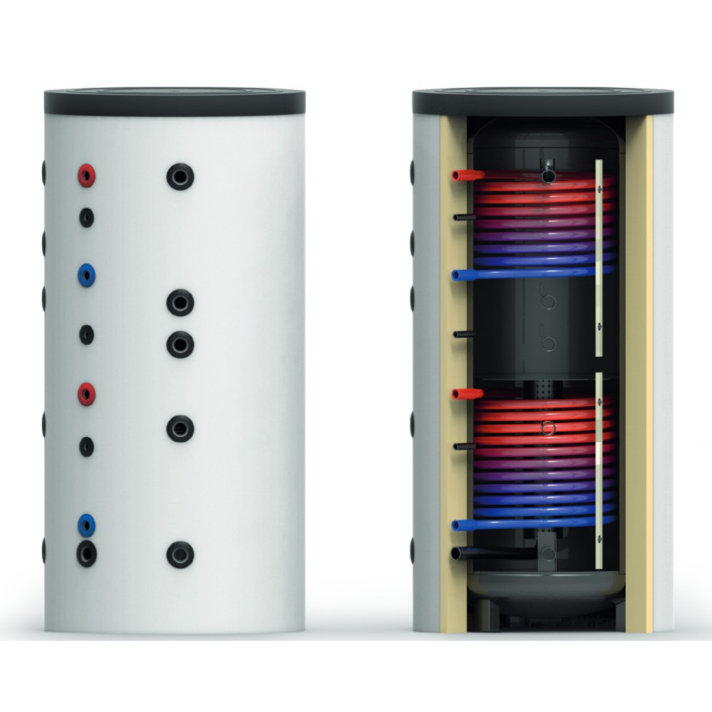 Ballon tampon stratifié BTSPS 500L sans échangeur solaire - stratification pour chauffage plancher chauffant et radiateurs