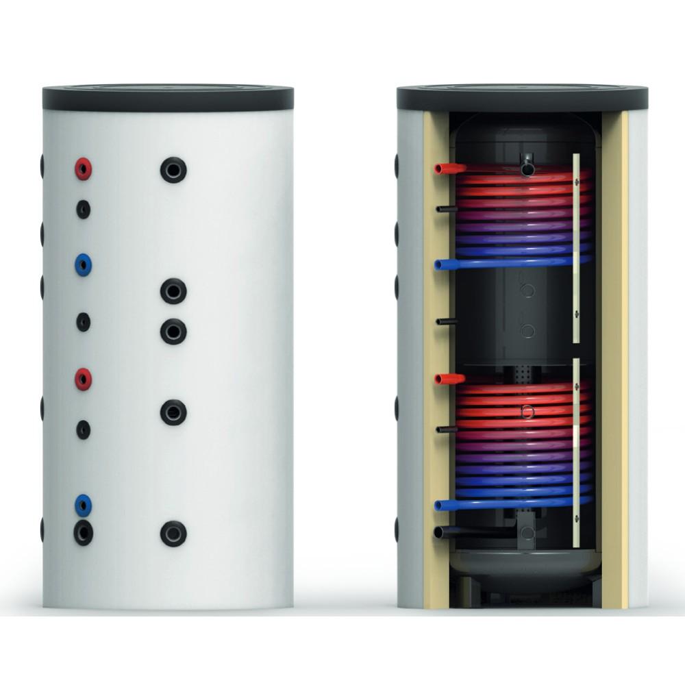 Ballon tampon haut BTSPS 1000 litres - sans échangeur - système de stratification chauffage radiateurs et plancher chauffant