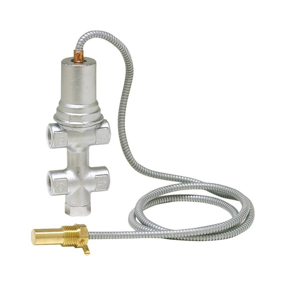 Soupape d'écoulement thermique avec alimentation et décharge - accessoire de sécurité pour poêle à bois hydro